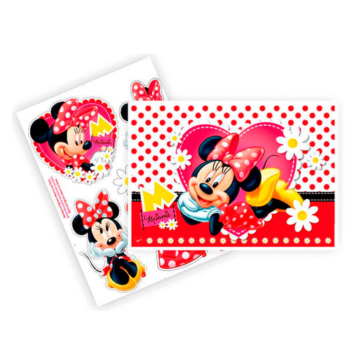 Kit Decorativo 2 Laminas Minnie Vermelha - Regina Festas