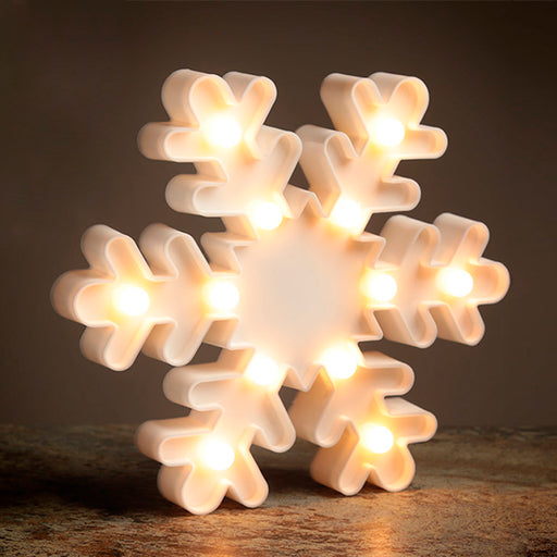 Luminoso Floco de Neve 3D LED