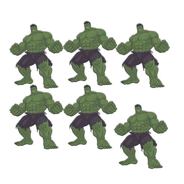 Mini Personagem Hulk Vingadores c/5 - Piffer