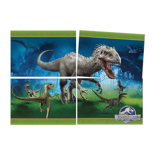 Painel Decorativo 4 Laminas Jurassic World - Festcolor