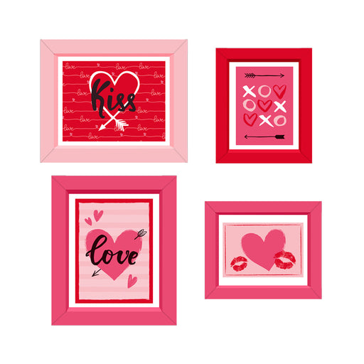 Quadrinhos Decorativos de Papel In Love c/4 - Regina Festas