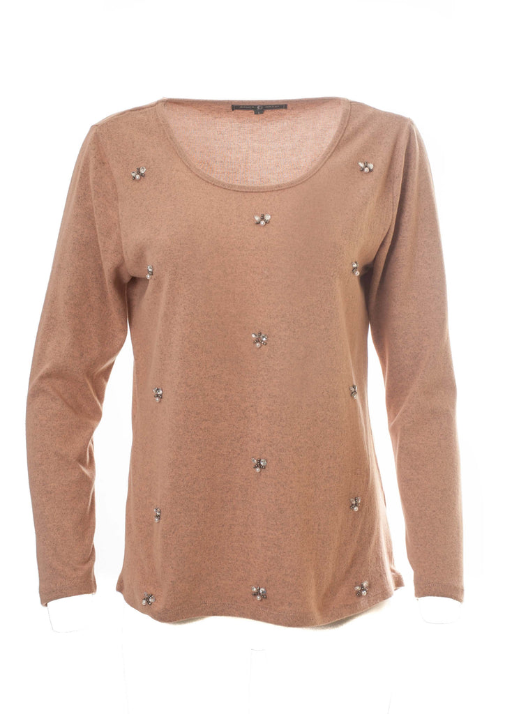 BEADED LONG SLEEVE WARM TOUCH TOP