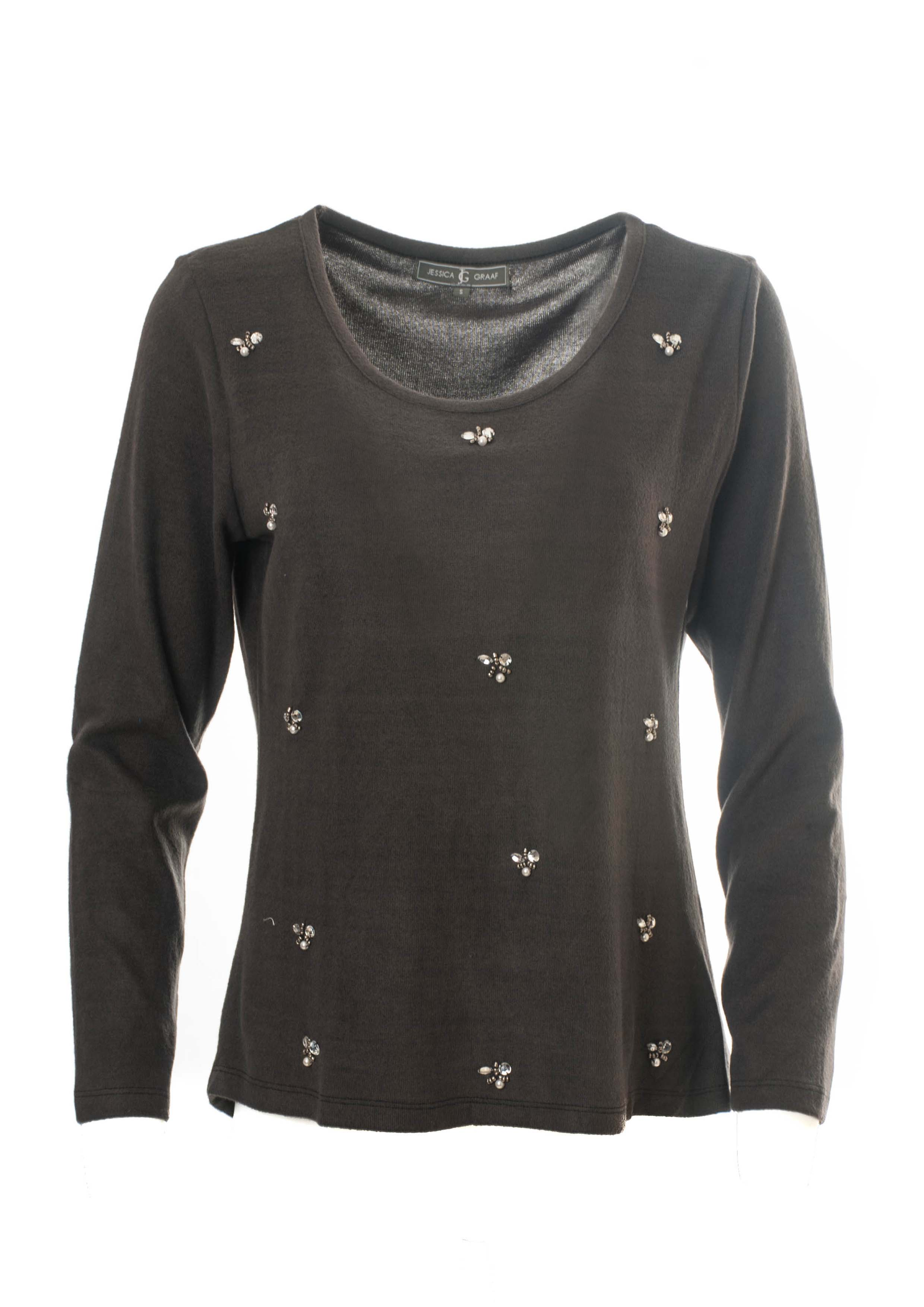 LONG SLEEVE WARM TOUCH TOP WITH BEADING
