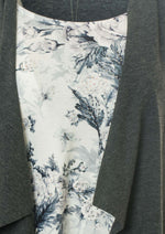 Two-in-1 Cardigan With Printed Top