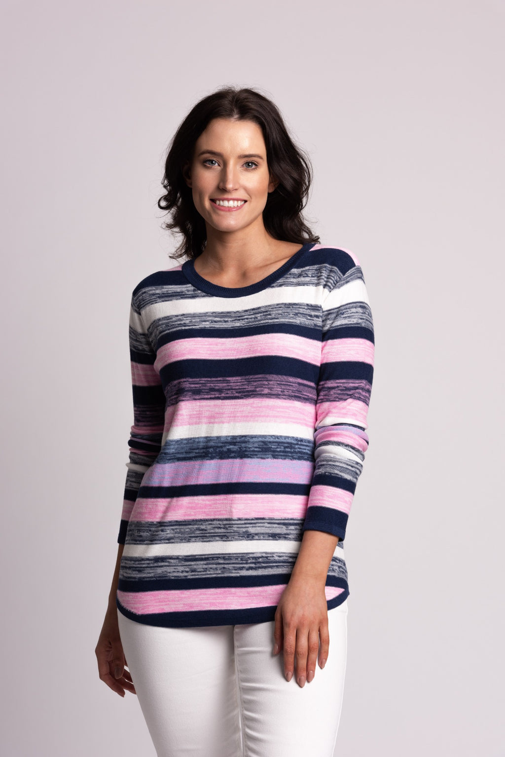 MARBLED STRIPE SWEATER