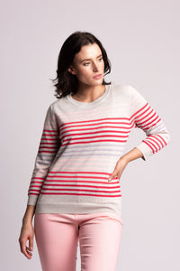 Cotton Sweater With Stripe