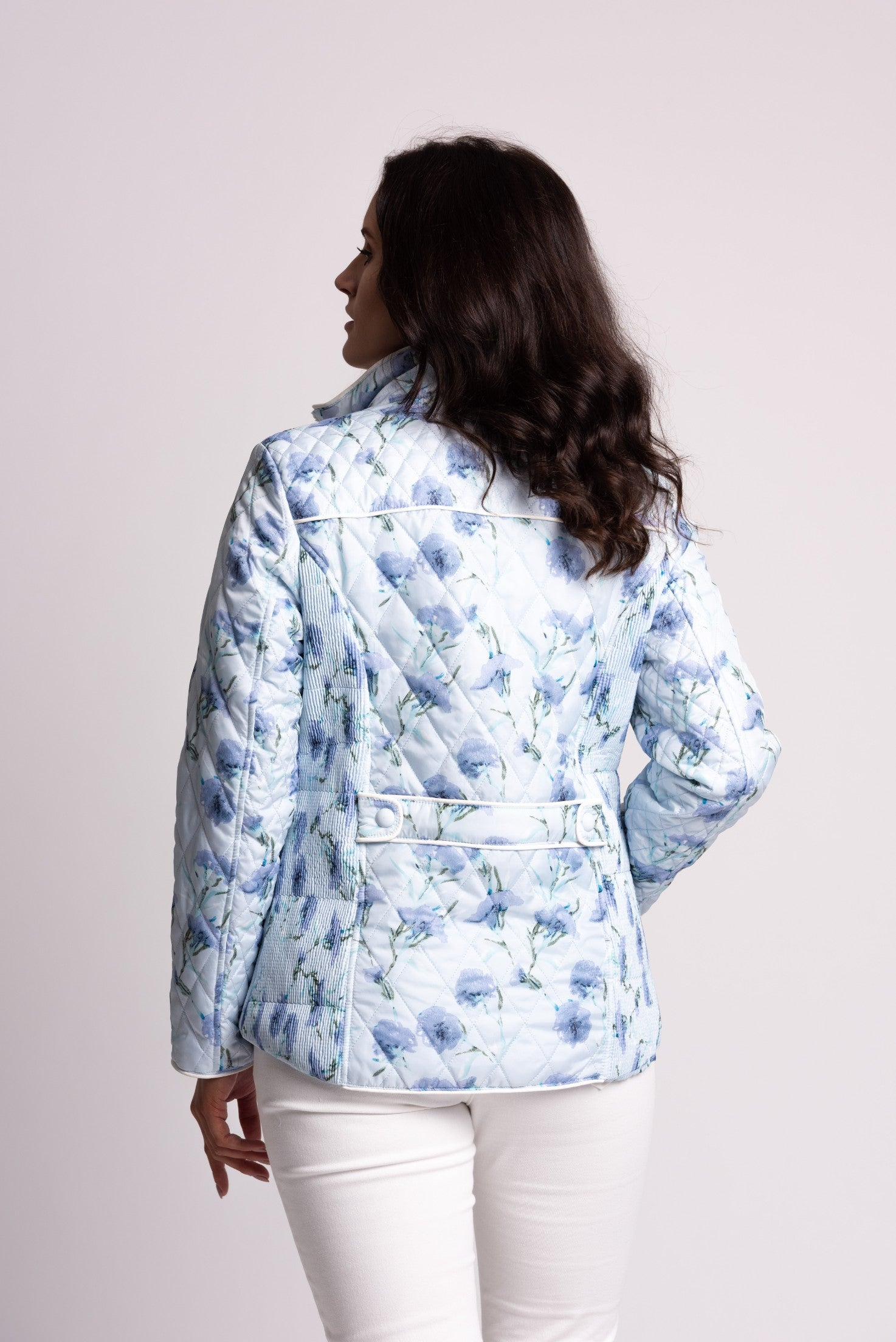 QUILTED JACKET WITH FLORAL PRINT