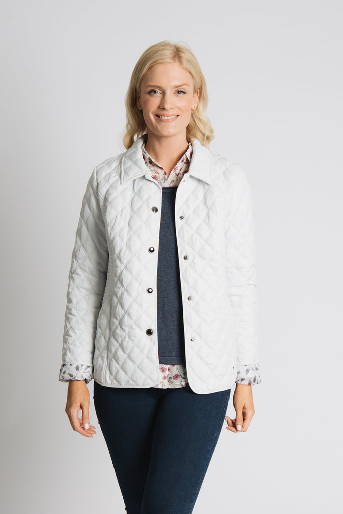 CLASSIC QUILTED JACKET WITH PRINTED LINING