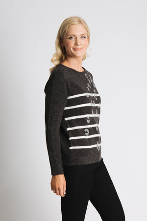 Animal and stripe sweater