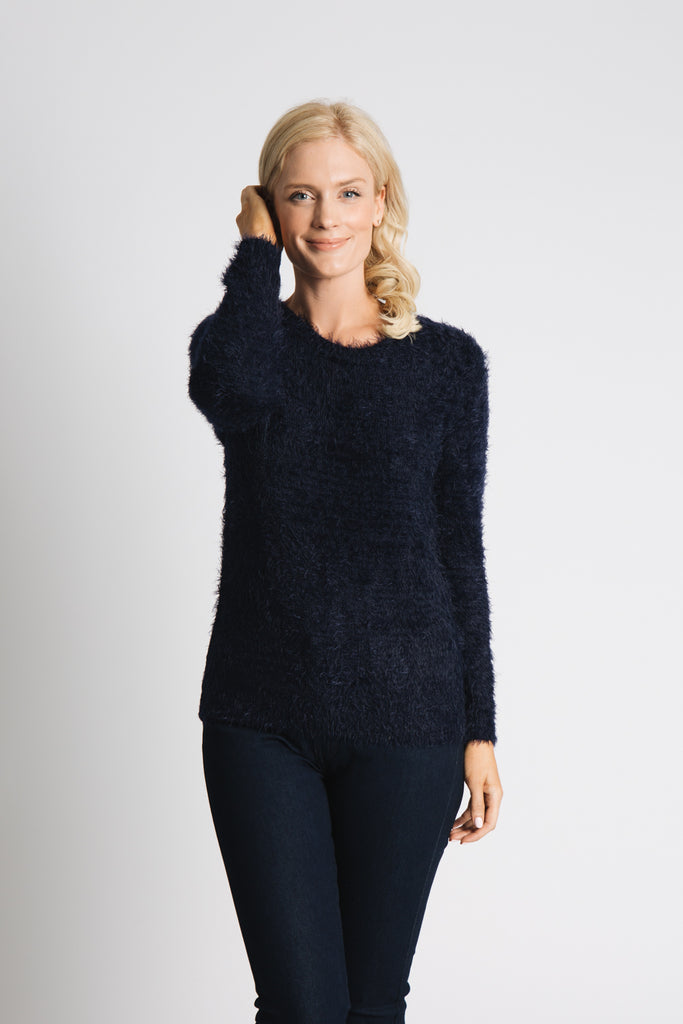 FEATHER YARN SUPER SOFT SWEATER
