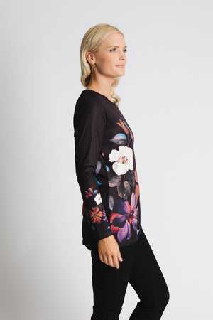 Large floral printed tunic