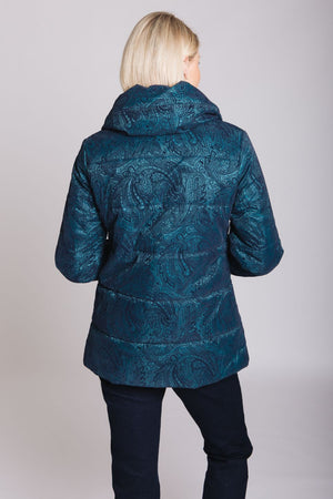 Teal Flocked Jacket
