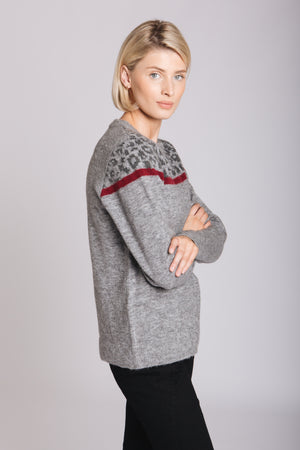 Grey Colour Pop Animal Sweater
