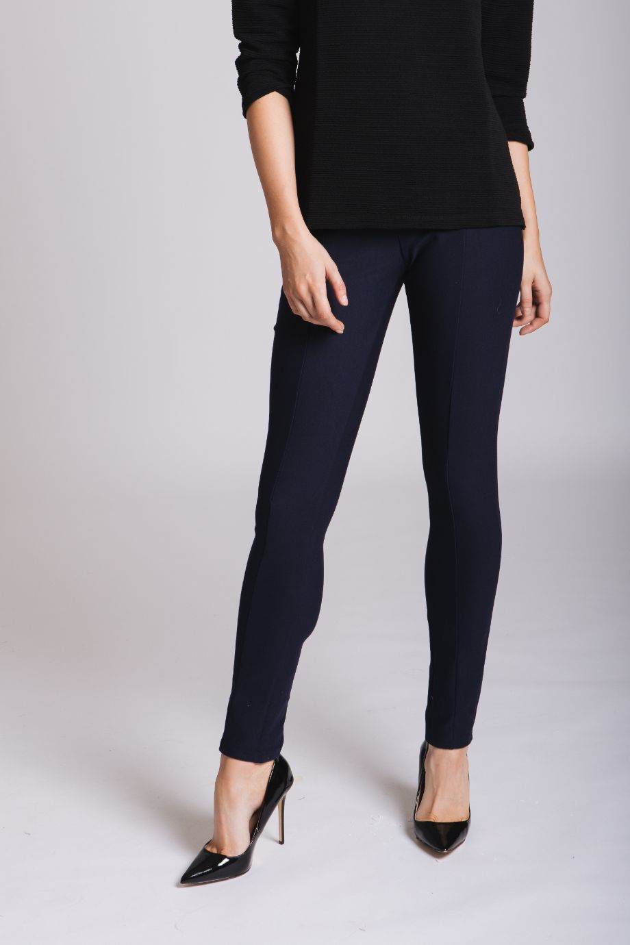 Stretch Trousers: Navy