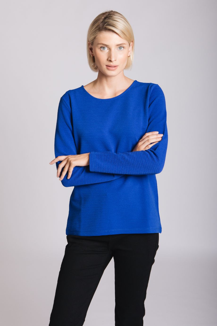 Cobalt Ribbed Top
