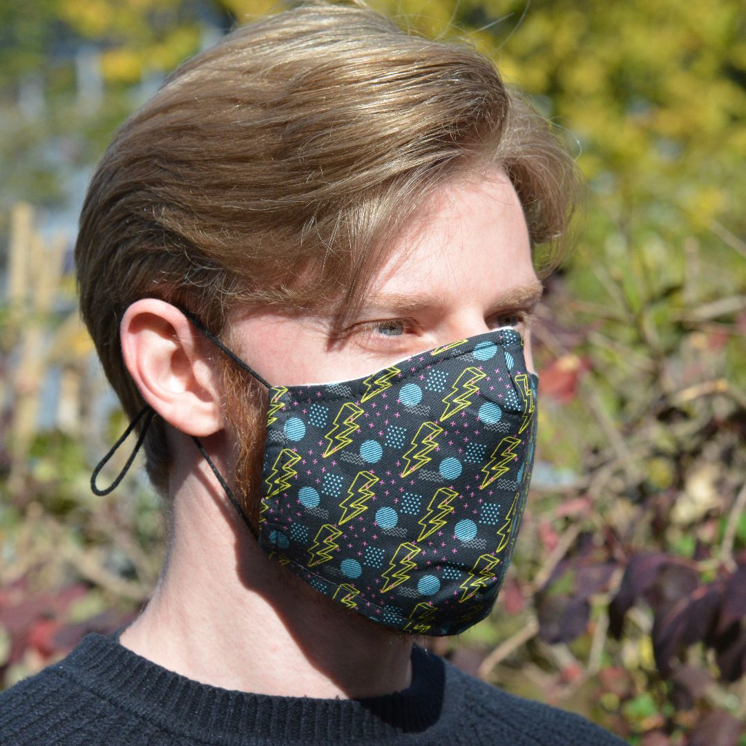 Adults - Electric Flash - Reusable Barrier Mask