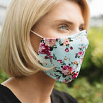 Adults - Pink Floral - Reusable Barrier Mask