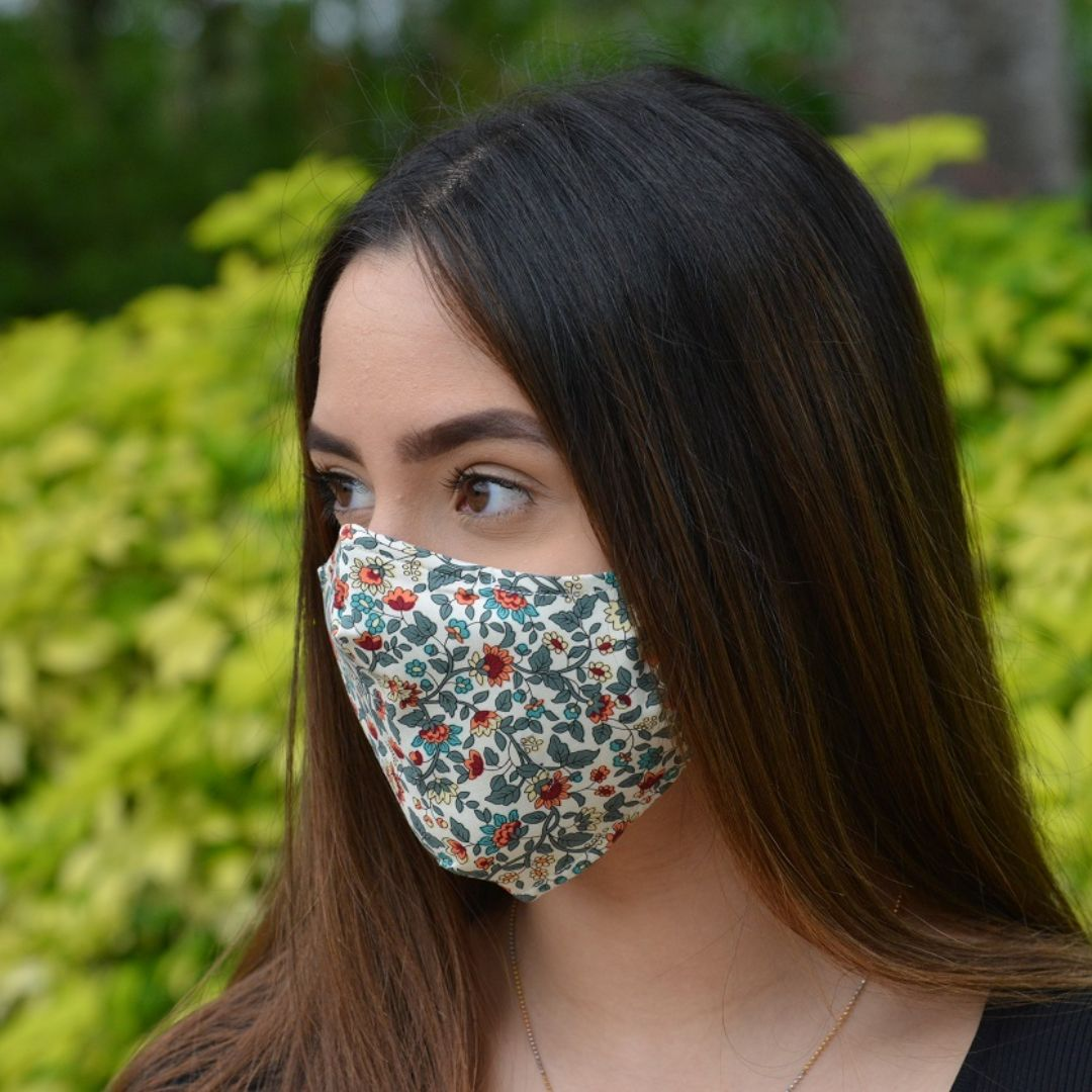 Adults - Autumn Leaves - Reusable Barrier Mask
