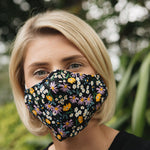 Adults - Black Meadow - Reusable Barrier Mask