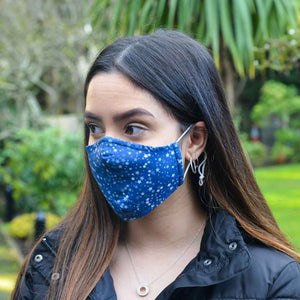 Junior Size - Blue Stars - Reusable Barrier Mask