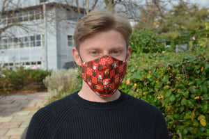 Adults - Christmas Check - Reusable Barrier Mask - CHRISTMAS