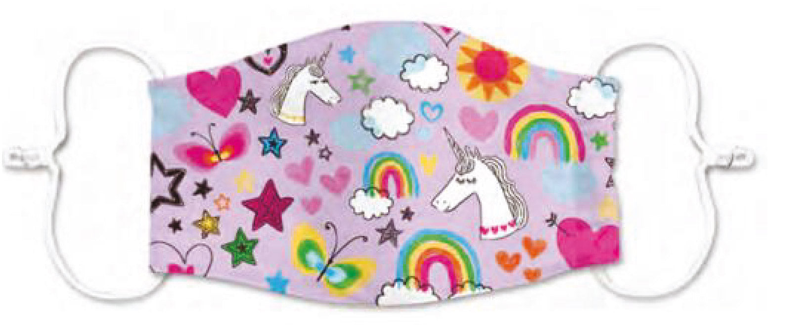 Junior Size - Pink Unicorn - Reusable Barrier Mask
