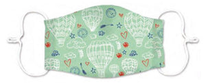 Junior Size - Hot Air Balloons - Reusable Barrier Mask