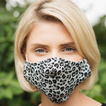 Adults - Grey Leopard - Reusable Barrier Mask