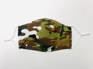 Adults - Green camouflage - Reusable Barrier Mask