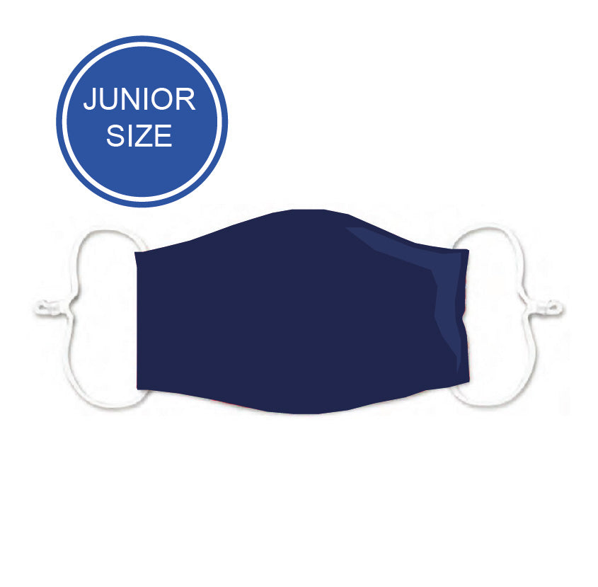 Junior Size - Solid Navy - Reusable Barrier Mask