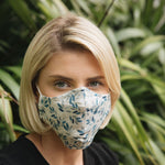 Adults - Blue Leaf - Reusable Barrier Mask