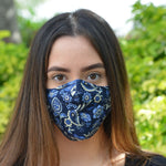 Adults - Navy Tapestry - Reusable Barrier Mask