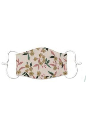 Adults - Natural floral - Reusable Barrier Mask