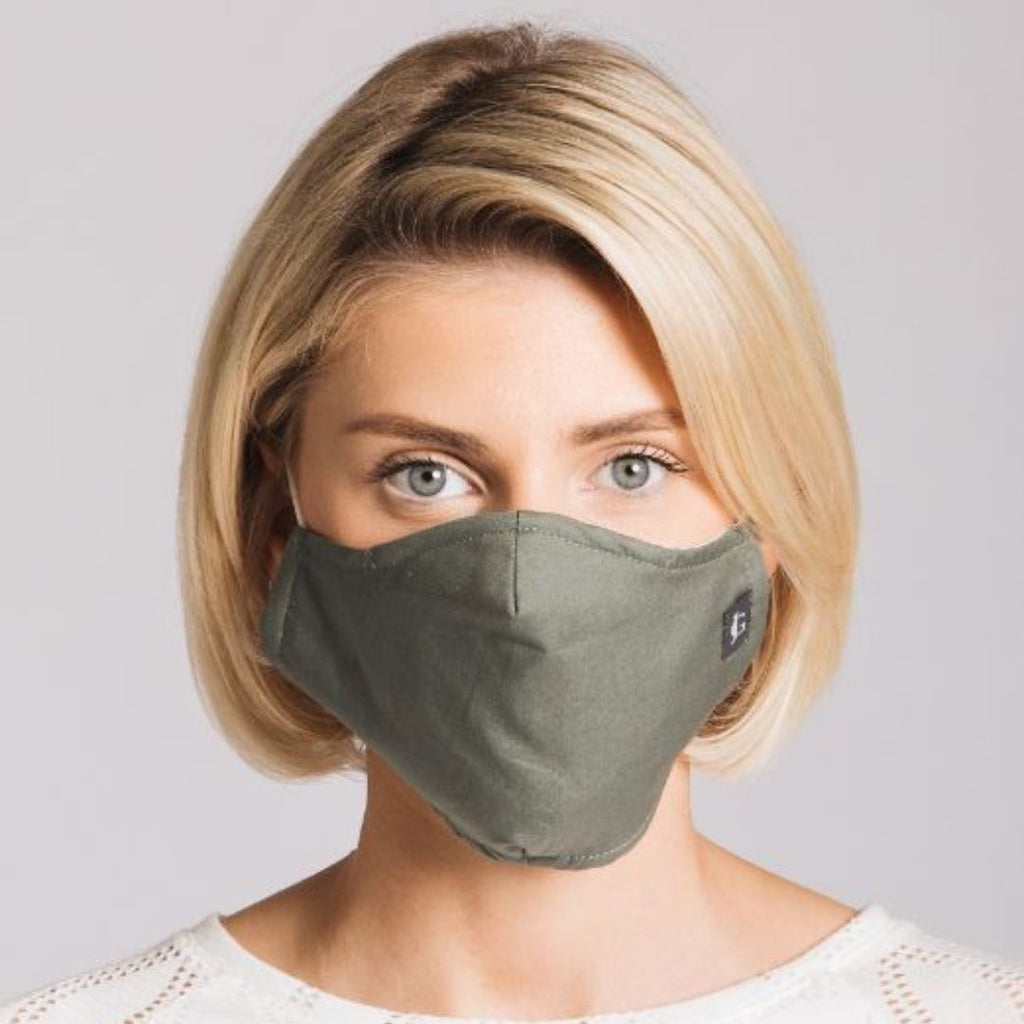 Adults - Khaki - Reusable Barrier Mask