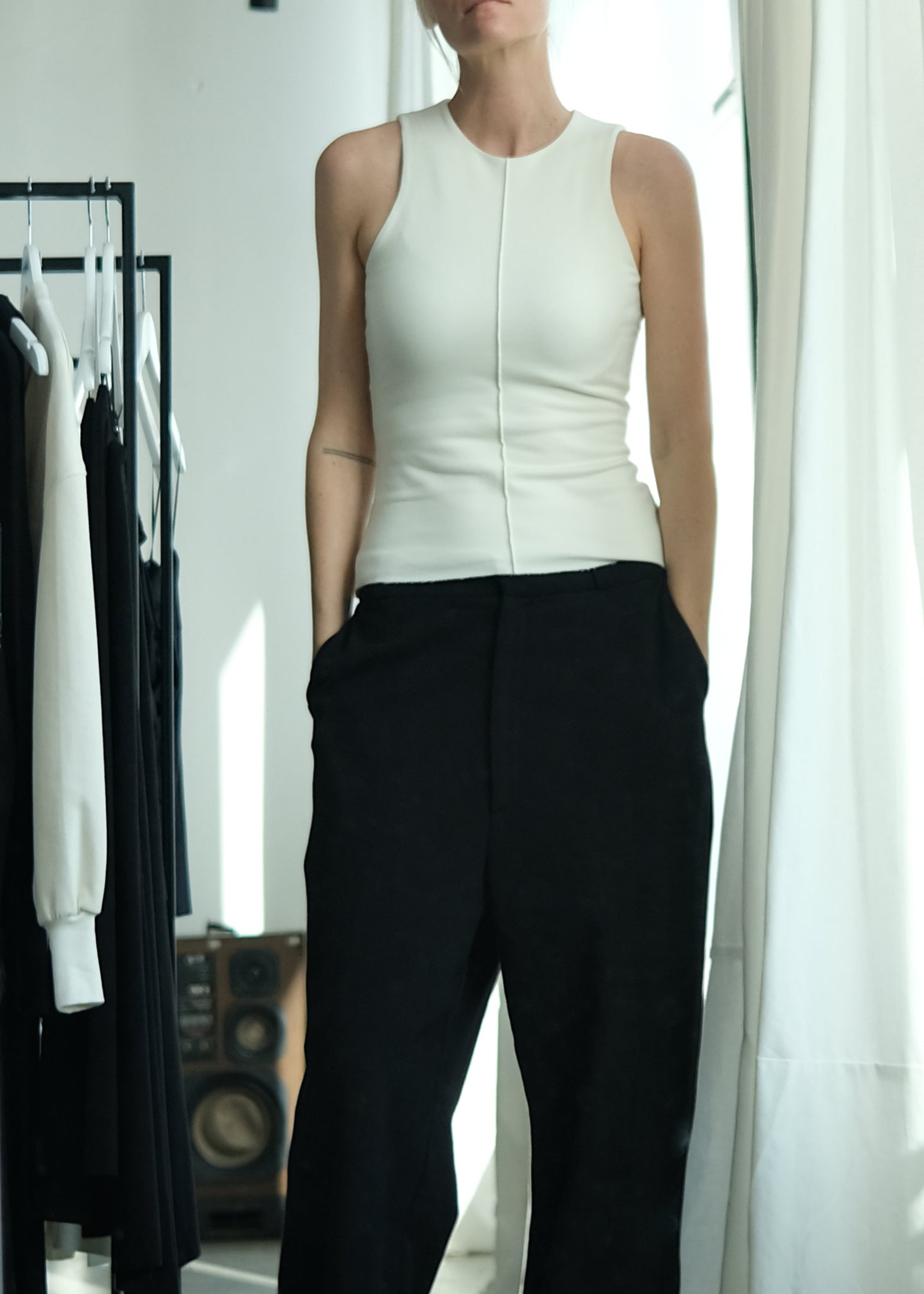 Studio August - ELENA top ivory • bamboo jersey