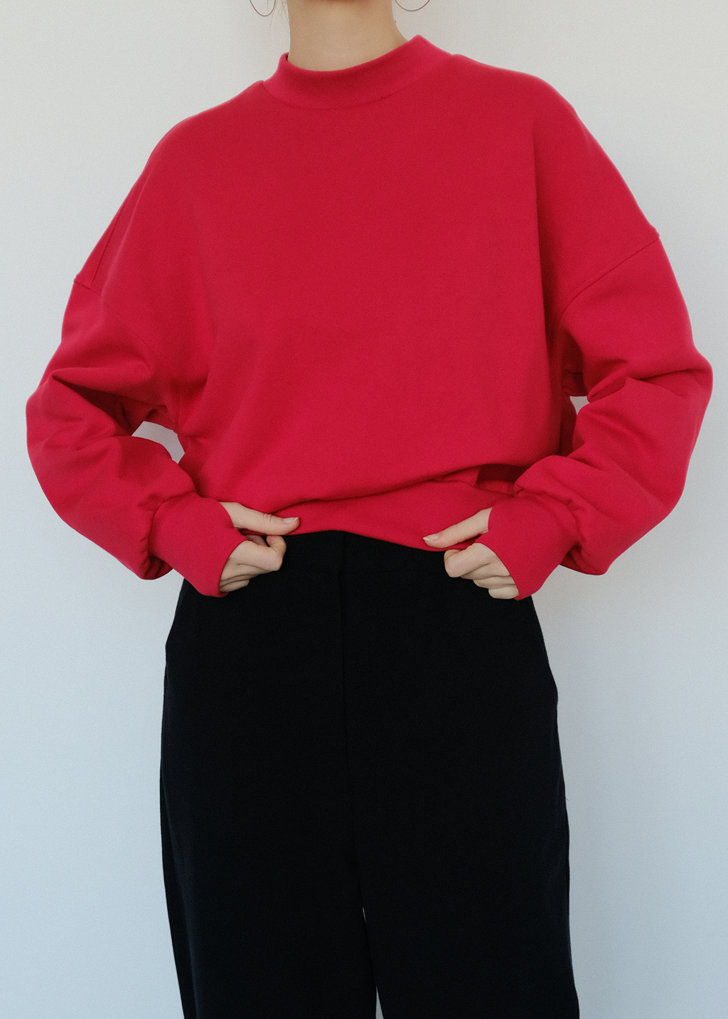 KARIN pullover tango red