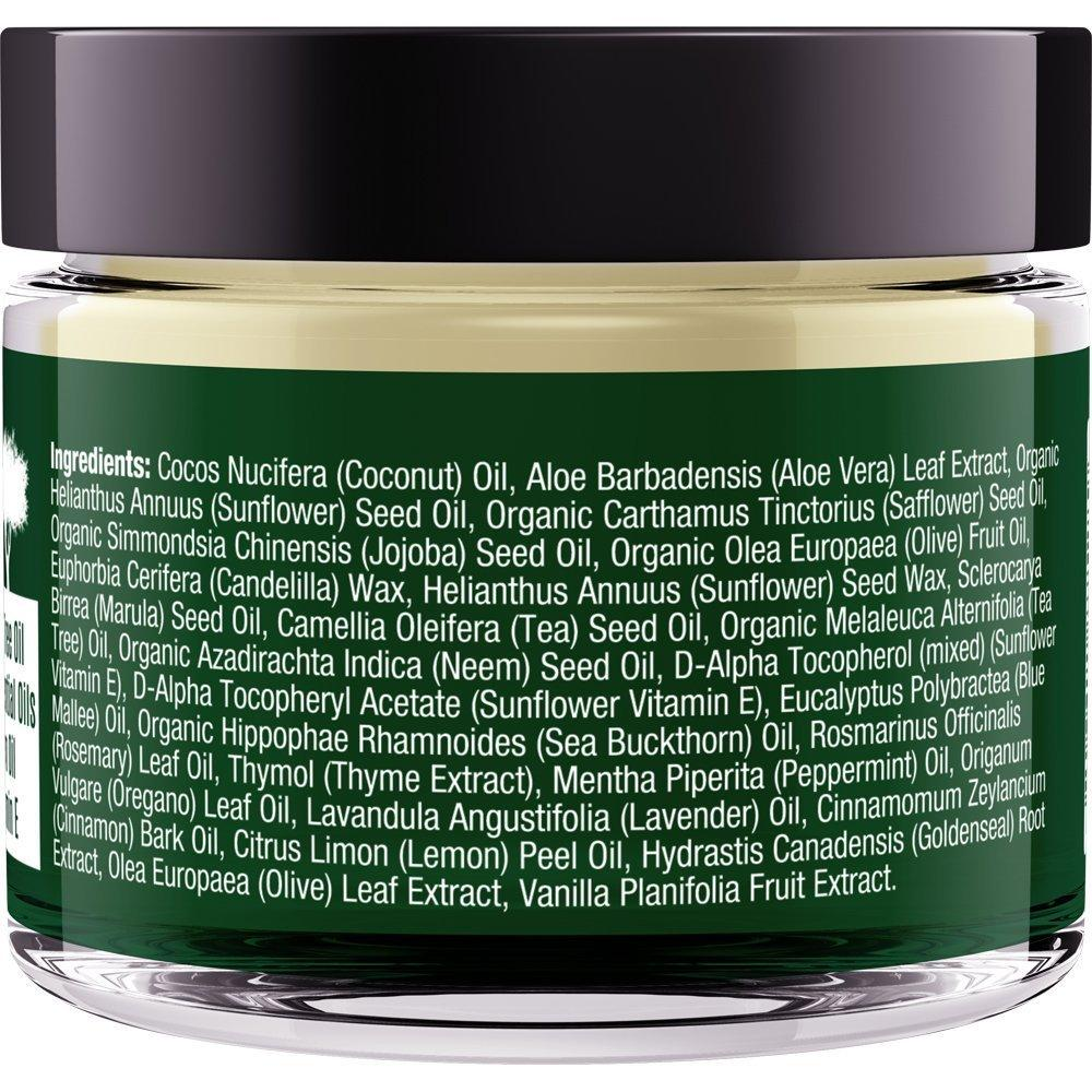 Therapeutic Balm with Tea Tree and Neem Oil  Antifungal  Helps Defend  Against Common Causes of Skin Irritation, Athlete's Foot, Ringworm, Jock  Itch,