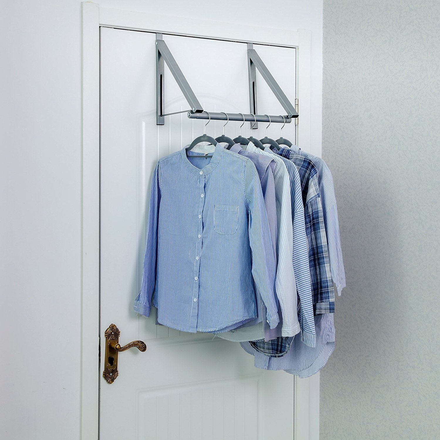 Songmics Over The Door Closet Rod Collapsible Clothes Hanger For