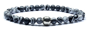 Stockholm - Grey Malachite Men's Bracelet