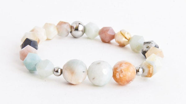 Laeticia Multicolor Facted Amazonite Women Bracelet