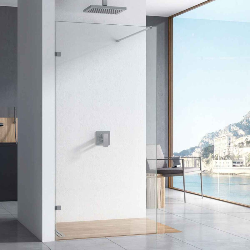 S10 10mm Easy Clean Wetroom Screen/Walk In Shower Panel 2000mm High
