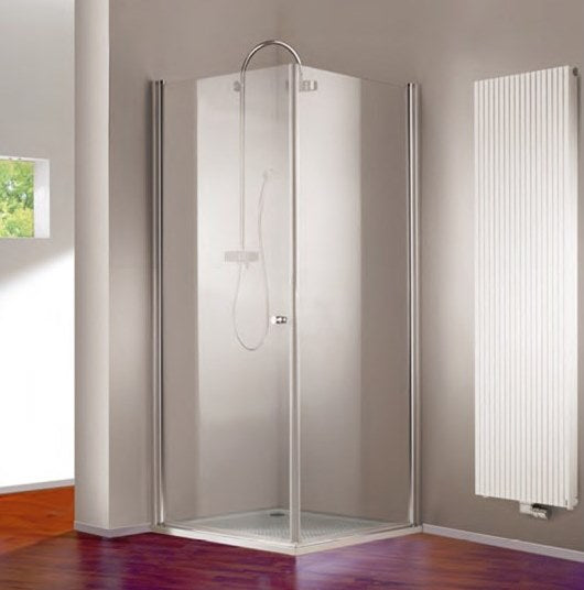 Huppe 501 Design Pure  900mm Swing Door and 900mm Side Panel including Tray and Waste Hawthorn
