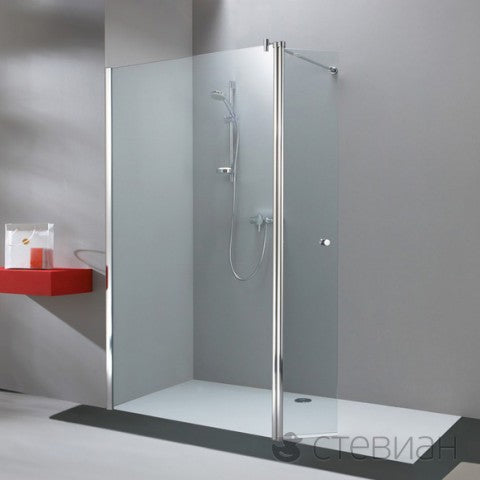 Huppe 501 Design Pure 1300mm Walk In With Hinged Screen
