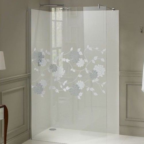 Laura Ashley 1200mm Walk in Panel Wetroom Screen Isodore Patterned Glass - Leeds Clearance Bathrooms