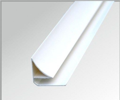 PVC Ceiling Panel Scotia Trim in White or Silver - Leeds Clearance Bathrooms
