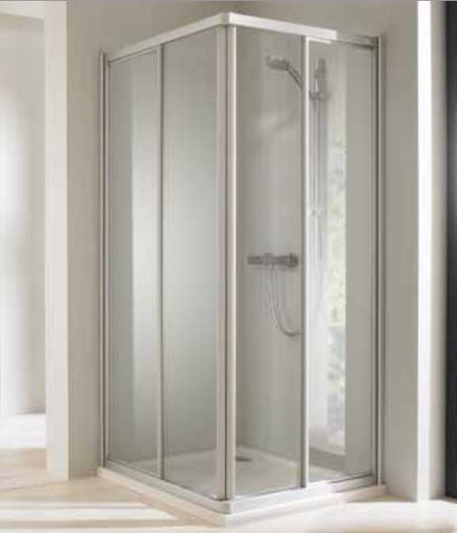 Huppe Classics Elegance 1000mm Corner Entry Enclosure, Sliding doors, Easy Clean - Leeds Clearance Bathrooms