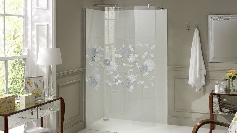 Laura Ashley 1000mm Walk in Panel Wetroom Screen Isodore Patterned Glass - Leeds Clearance Bathrooms