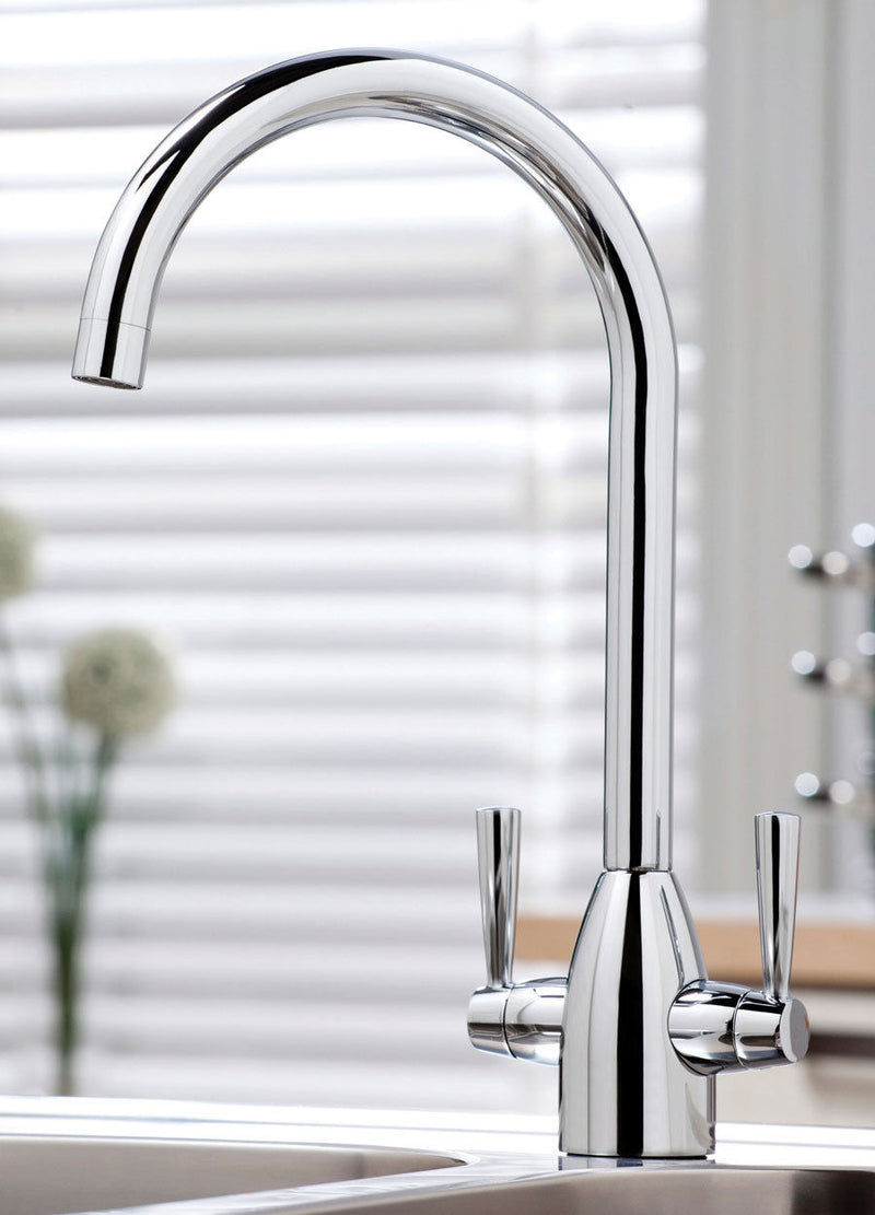 Marlo Modern Chrome Swivel Spout Kitchen Sink Mixer Tap - Leeds Clearance Bathrooms