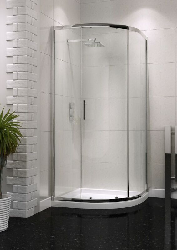 Single Door Quadrant Enclosure 6mm Easy Clean Glass - 800mm 900mm - Leeds Clearance Bathrooms
