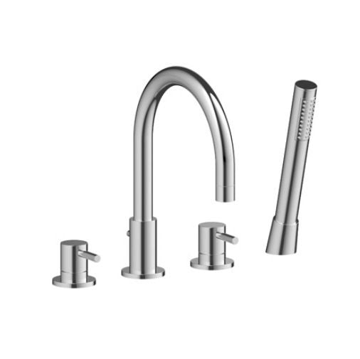Indigo 4 Hole Bath Shower Mixer Tap Chrome - Leeds Clearance Bathrooms